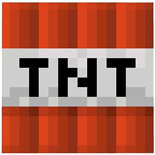 minecraft mojang tnt explosive block graphic super plush fleece