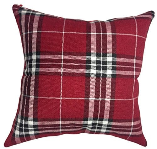 Red Plaid Carolers 18: That's Perfect! Scottish Tartan Plaid Decorative Throw